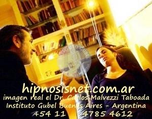 hipnosisnet.com.ar imagen real del Dr. Carlos Malvezzi Toboada en el Insitituto Gubel de Buenos Aires - Argentina +54 11 4785 4612