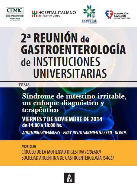 Reunión Instituciones Universitarias CEMIC Hospital Italiano Hospital Austral Fundación Favaloro sii sindrome de intestino irritable Buenos Aires