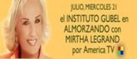 Instituto Gubel Dr. Malvezzi Taboada con la Sra. Mirta Legrand en la television Argentina